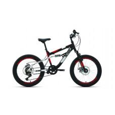 """Велосипед 20"""" FORWARD ALTAIR MTB FS (DISK) (Двухподвес) (6-ск.) 2019-2020 (рама 14) черный/красный"""